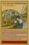 Beautiful inventions card, telegraphy
