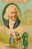 Chocolat Poulain trade card, Antoine-Augustin Parmentier