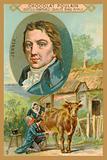 Chocolat Poulain trade card, Edward Jenner