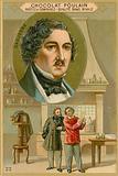 Chocolat Poulain trade card, Louis Daguerre