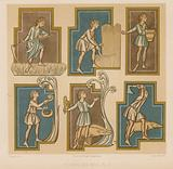 Figures depicting the months
