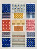 Embroidered fabrics of 13th and 14th century France