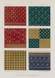 Embroidered fabrics of 14th century France