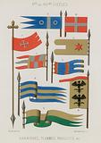 Banners, streamers, flags of the 10th to 14th centuries