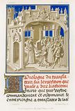 Frontispiece in grisaille of a manuscript
