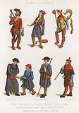 A jailer, a minstrel, a fool, bourgeoisie, a beggar, a pilgrim and a shepherd