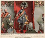 Frederick the Great receiving tribute from the Silesians in the townhall of Breslau
