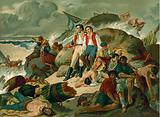 Shipwrecked survivors of the Battle of Trafalgar, 1805