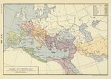 493 AD; Europe and Western Asia at the beginning of the reign of Theodoric the Ostro-Goth, 493 AD