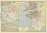 987-1134 AD; France at the Accession of the Capetian Dynasty in 987; The scene of the Battle …