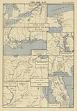1790-1842 AD; Four Maps illustrating the War of 1812; Perdido River the West boundary of Florida