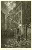 Lightning firing a Street Gas-Lamp