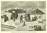Eskimo snow huts, near Cape Herschel, King William Land