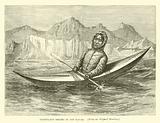 Greenland Eskimo in his Kayak