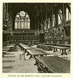 Interior of the Memorial Hall, Harvard University