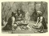 Interior of a Turkoman tent