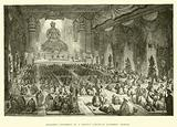 Religious Ceremony in a Chinese Lamasery, Buddhist Temple
