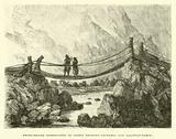 Swing-bridge constructed of Osiers between Urubamba and Ollantay-Tampu