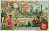 The first steam railway, 1825