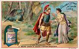 Medea gives Jason the magic potion