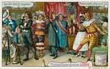 Poet, trumpeter; Harlequin, etc