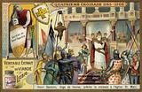 Enrico Dandolo, Doge of Venice, preaching the Fourth Crusade in St Mark's Basilica, Venice