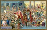 Coronation procession of an Emperor, Rome, Middle Ages