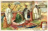 Taytu Betul, Empress Consort of Ethiopia, and her retinue
