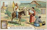 Delivering a letter in olden times, China