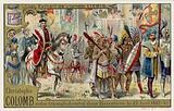 Christopher Columbus enters Barcelona in triumph, 15 April 1493