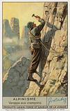 Climbing using crampons