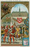 Merchants of the Hanseatic League making their way the Exchange in solemn procession