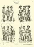 Bavarian military uniforms, early 19th Century