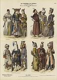Turkish costumes, 17th and first half of 18th Century