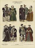 Costumes of English and Scottish royalty and nobility, 16th Century