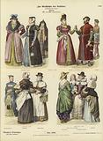 English costumes, 16th and 17th Century