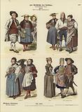 Swiss costumes, late 18th Century