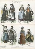 Swiss costumes, 19th Century
