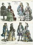 German and French costumes, early 18th Century