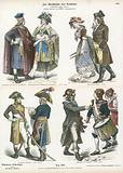 Costumes of Revolutionary France, late 18th Century