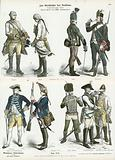 Austrian and Prussian military uniforms, second half of 18th Century