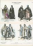Costumes of members of the Crusading orders, 12th and 13th Century