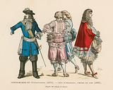 French men's costumes, 17th Century