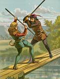 Robin Hood's combat with Little John