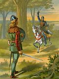 Robin Hood stops the knight in black armour