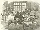 Tennyson in his library