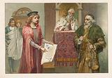 Portia, Shylock and the Judge in The Merchant of Venice