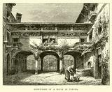 Court-yard of a house in Verona
