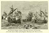 Sir Francis Drake taking a Spanish Galleon, 22 July 1588