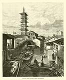 Canal and Pagoda near Shanghai